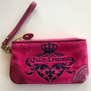 Juicy Couture hot pink clutch, basically new